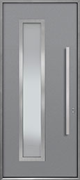 Custom Aluminum Front  Door Example, Exterior Aluminum Clad-Matte Light Gray ALU-E5_Wood-Aluminum-Matte-Light-Gray