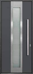 Custom Aluminum Front  Door Example, Exterior Aluminum Clad-Matte Dark Gray DB-ALU-F4 CST