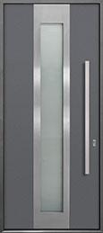 Custom Aluminum Front  Door Example, Exterior Aluminum Clad-Matte Gray DB-ALU-F4 CST