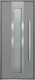 Custom Aluminum Front  Door Example, Exterior Aluminum Clad-Matte Light Gray ALU-F4_Wood-Aluminum-Matte-Light-Gray