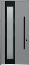 Custom Aluminum Front  Door Example, Exterior Aluminum Clad-Matte Light Gray ALU-F5B_Wood-Aluminum-Matte-Light-Gray