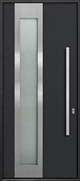 Custom Aluminum Front  Door Example, Exterior Aluminum Clad-Matte Black ALU-F5_Wood-Aluminum-Matte-Black
