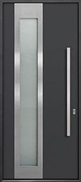 Custom Aluminum Front  Door Example, Exterior Aluminum Clad-Matte Dark Gray DB-ALU-F5 CST