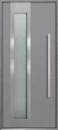 Custom Aluminum Front  Door Example, Exterior Aluminum Clad-Matte Light Gray ALU-F5_Wood-Aluminum-Matte-Light-Gray