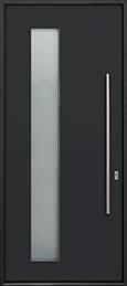 Custom Aluminum Front  Door Example, Exterior Aluminum Clad-Matte Black ALU-G5_Wood-Aluminum-Matte-Black