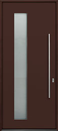 Custom Aluminum Front  Door Example, Exterior Aluminum Clad-Matte Chocolate Brown ALU-G5_Wood-Aluminum-Matte-Chocolate-Brown