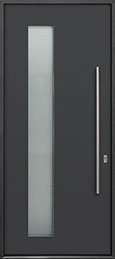 Custom Aluminum Front  Door Example, Exterior Aluminum Clad-Matte Dark Gray ALU-G5_Wood-Aluminum-Matte-Dark-Gray