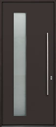 Custom Aluminum Front  Door Example, Exterior Aluminum Clad-Matte Gray Brown ALU-G5_Wood-Aluminum-Matte-Gray-Brown