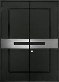 Custom Aluminum Front  Door Example, Exterior Aluminum Clad-Matte Black ALU-L7-DD_Wood-Aluminum-Matte-Black_CST