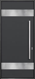 Custom Aluminum Front  Door Example, Exterior Aluminum Clad-Matte Dark Gray DB-ALU-M1 CST