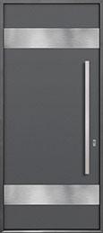 Custom Aluminum Front  Door Example, Exterior Aluminum Clad-Matte Gray DB-ALU-M1 CST