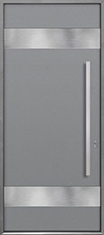 Custom Aluminum Front  Door Example, Exterior Aluminum Clad-Matte Light Gray ALU-M1_Wood-Aluminum-Matte-Light-Gray