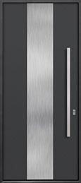 Custom Aluminum Front  Door Example, Exterior Aluminum Clad-Matte Dark Gray ALU-M2_Wood-Aluminum-Matte-Dark-Gray