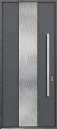 Custom Aluminum Front  Door Example, Exterior Aluminum Clad-Matte Gray ALU-M2_Wood-Aluminum-Matte-Gray