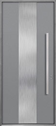 Custom Aluminum Front  Door Example, Exterior Aluminum Clad-Matte Light Gray ALU-M2_Wood-Aluminum-Matte-Light-Gray