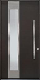 DB-EMA-C3W-ALURON Mahogany Wood Veneer / Exterior Aluminum Clad-Espresso  Wood Front Door