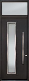 DB-EMA-E4W-ALURON TR Mahogany Wood Veneer / Exterior Aluminum Clad-Espresso  Wood Front Door