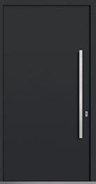 Custom Aluminum Front  Door Example, Exterior Aluminum Clad-Matte Black DB-PVT-ALU-A1 CST