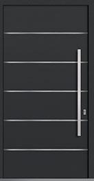 Custom Aluminum Front  Door Example, Exterior Aluminum Clad-Matte Dark Gray PVT-ALU-B3_Wood-Aluminum-Matte-Dark-Gray