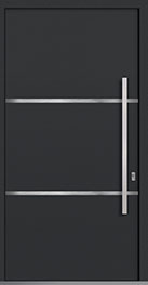 Custom Aluminum Front  Door Example, Exterior Aluminum Clad-Matte Dark Gray DB-PVT-ALU-B4 CST
