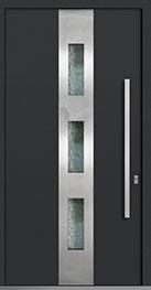 Custom Aluminum Front  Door Example, Exterior Aluminum Clad-Matte Dark Gray DB-PVT-ALU-C2 CST
