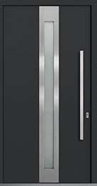Custom Aluminum Front  Door Example, Exterior Aluminum Clad-Matte Dark Gray PVT-ALU-D4_Wood-Aluminum-Matte-Dark-Gray