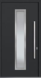Custom Aluminum Front  Door Example, Exterior Aluminum Clad-Matte Dark Gray PVT-ALU-E4_Wood-Aluminum-Matte-Dark-Gray