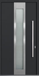 Custom Aluminum Front  Door Example, Exterior Aluminum Clad-Matte Dark Gray DB-PVT-ALU-F4 CST