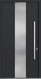Custom Aluminum Front  Door Example, Exterior Aluminum Clad-Matte Dark Gray DB-PVT-ALU-M2 CST