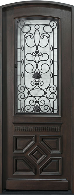 Heritage Mahogany Wood Front Door - Single - DB-H002F CST