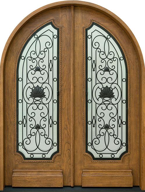 Heritage SpanishCedar Wood Front Door - Double - DB-H004 DD R CST