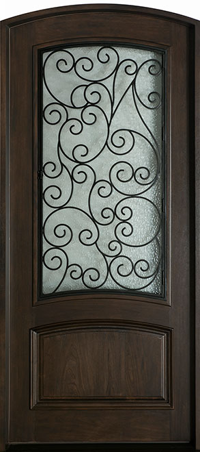Heritage Mahogany Wood Front Door - Single - DB-H005 F CST