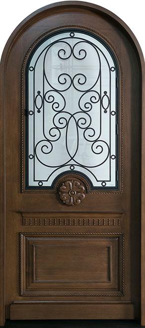 Heritage Mahogany Wood Front Door - Single - DB-H007 R CST