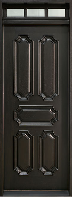 Heritage Mahogany Wood Front Door - Single - DB-H103 TR CST