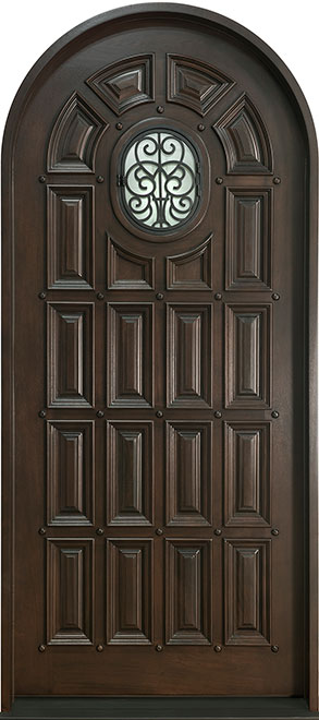 Heritage Mahogany Wood Front Door - Single - DB-H495 R CST