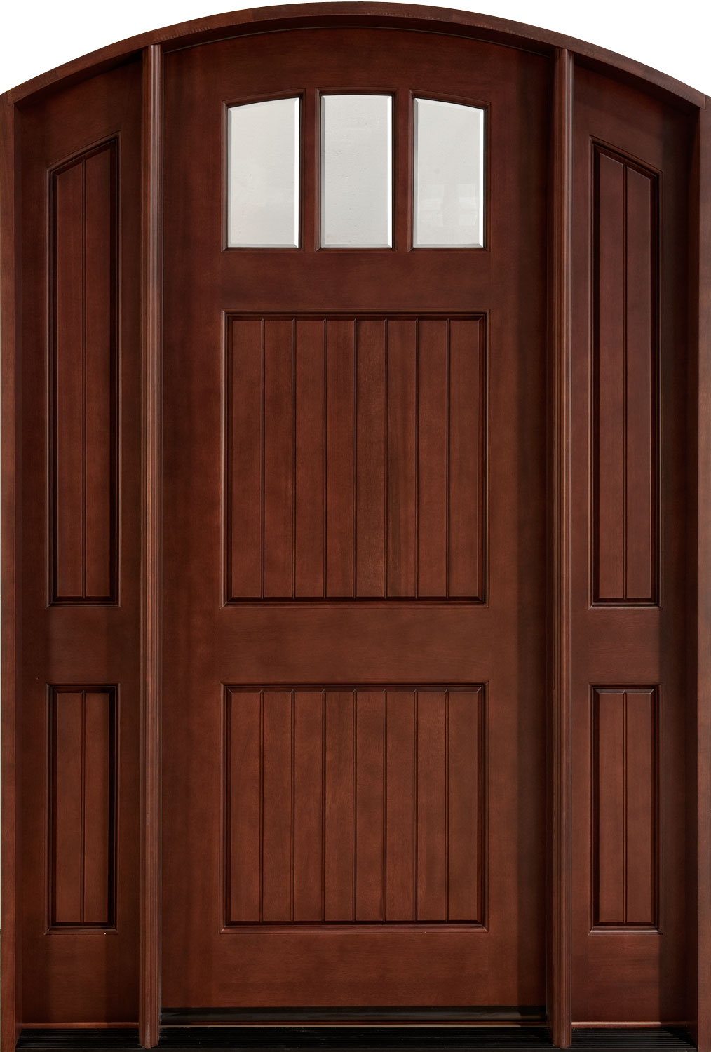 Single Front Doors front door custom - single with 2 sidelites - solid wood with