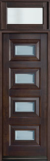 DB-825PT TR-EN3 CST Mahogany-Walnut  Wood Front Door - Single