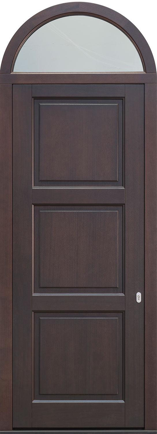 Wood Front Door - Single  w/ Transom