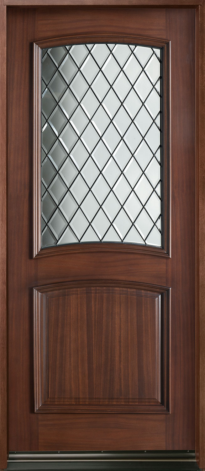 Diamond Mahogany Wood Front Door  - GD-552 DG CST
