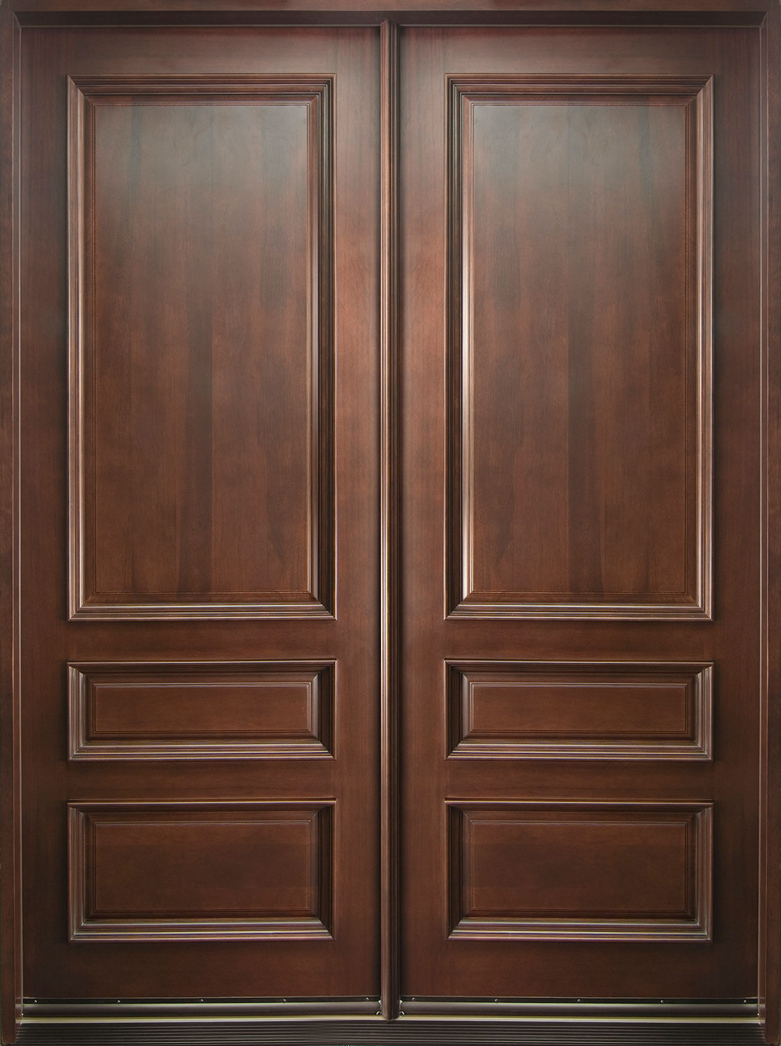 Front Door Custom Double Solid Wood With Dark Mahogany Finish Classic Model Db 611 Dd Cst