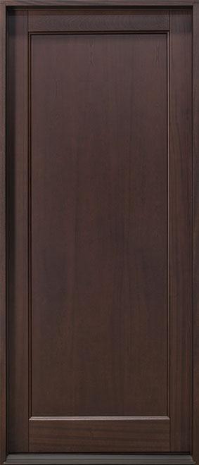 Classic Mahogany Wood Front Door - Single - DB-001PW CST