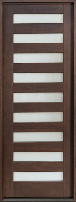 Modern Mahogany Wood Front Door - Single - DB-004PT CST