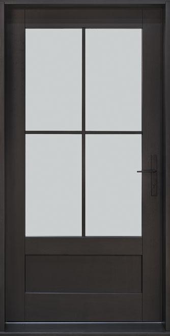 Classic Mahogany Wood Front Door - Single - DB-004 PW CST