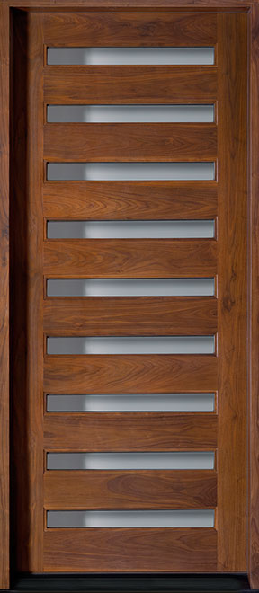 Modern American Walnut Wood Front Door - Single - DB-004W  CST