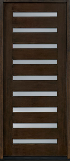Modern Mahogany Wood Front Door - Single - DB-004W  CST