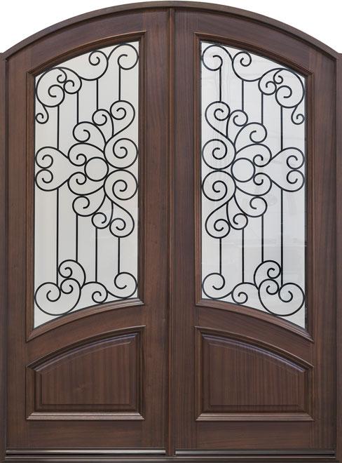 Classic Mahogany Wood Front Door - Double - DB-005 DD CST