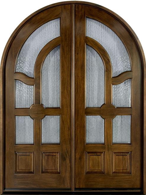 Classic Mahogany Wood Front Door - Double - DB-006 DD CST