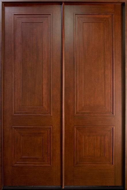 Classic Mahogany Wood Front Door - Double - DB-010 DD CST