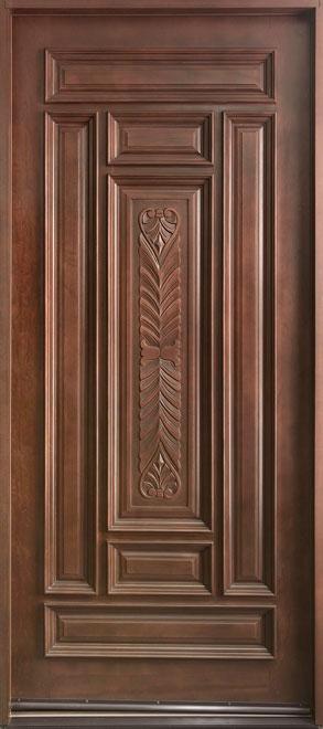 Classic Mahogany Wood Front Door - Single - DB-095W CST
