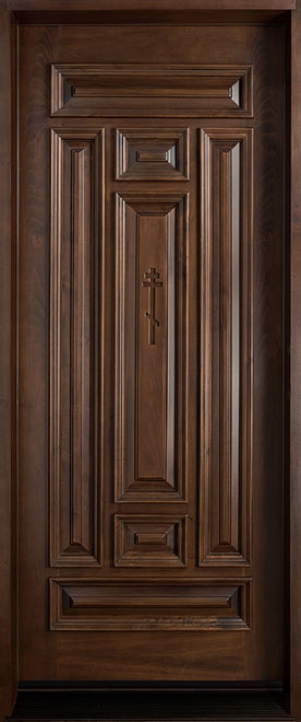 Classic Teak Wood Front Door - Single - DB-095 CST
